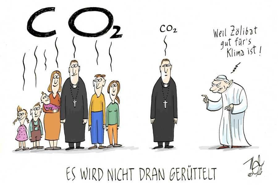 katholische kirche zölibat co2 klima papst benedikt nicht gerüttelt